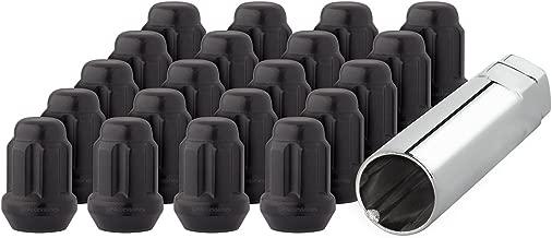DPAccessories LCS3N8HE2BK04020 20 Black 14x1.5 Closed End Duplex Spline Tuner Lug Nuts for Aftermarket Wheels Wheel Lug Nut