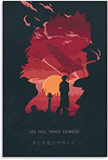 GANG Cowboy Bebop See You Space Cowboy Lienzo Art Poster Decorative Painting Canvas Wall Art Living Room Posters Bedroom P...