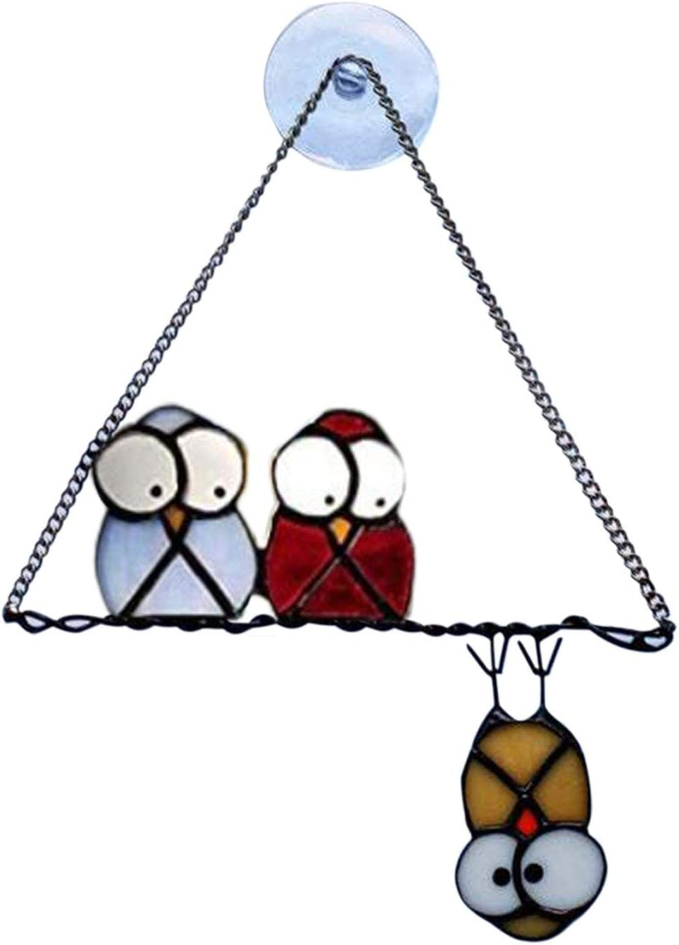 Stained Glass Window Owl Unique Hanging National uniform free Tucson Mall shipping O Pendant