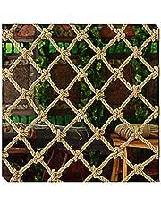 Sterk En Gebruiksvriendelijk Henneptouwnet, Gedecoreerd Met Retro Natuurlijke Materialen Handgeweven Wanddecoratie Trap- En Balkonbeschermingsnet (kleur: Henneptouw-6MM, Afmeting:8CM)(Size:1x5m)