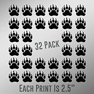 300 Pieces 1.5 Inch Colorful Paw Print Stickers Dog Paw Labels Stickers Bear Paw Print Stickers Mixed Color