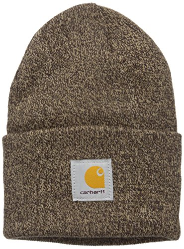 Carhartt Men's Acrylic Watch Hat A18, Dark Brown/Sandstone, One Size