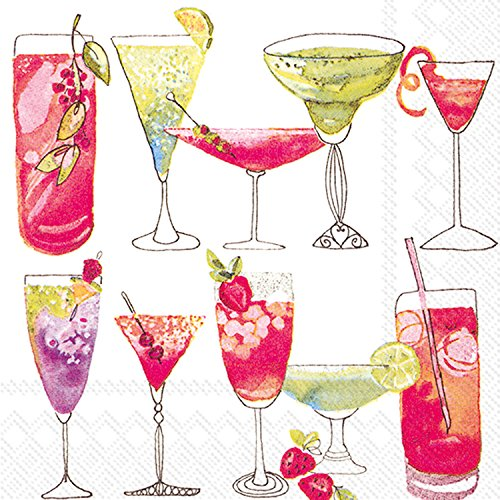 Ideal Home Range - Tovaglioli da cocktail in carta bianca dolce, 20 pezzi