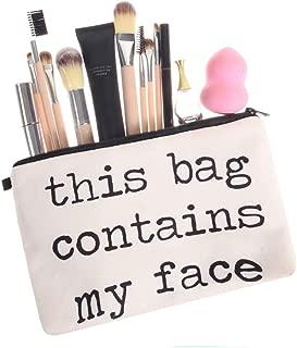 Creazy Cosmetic Bag Women Letters Printing Makeup Toiletry Storage Travel Wash Handbag (C)