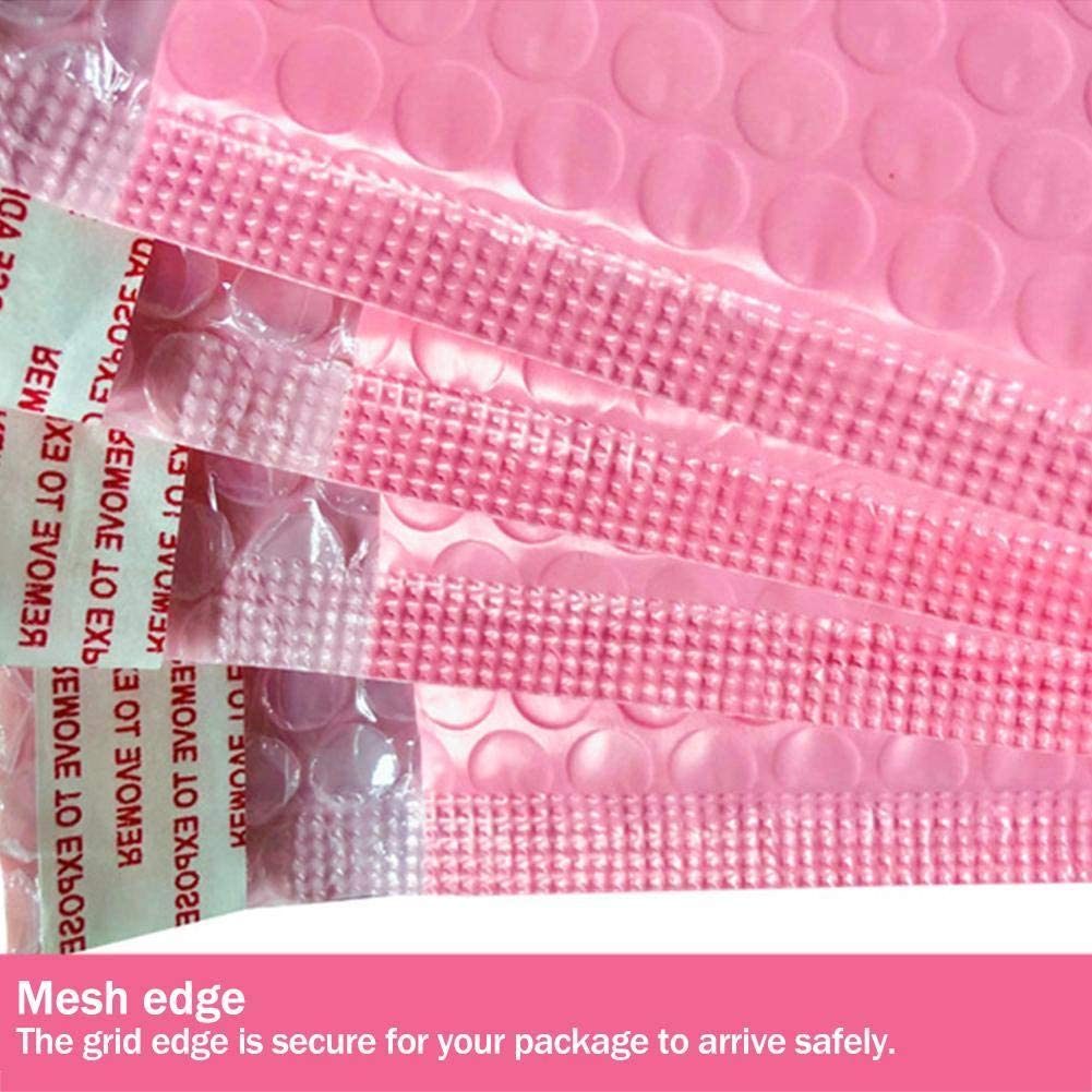 Tammy Yerke 10 pi/èces Auto-scellant rembourr/é /à Bulles enveloppes Sacs postaux enveloppe Rose Mousse exp/édition Sac demballage