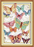 Maydear Cross Stitch Kits Stamped Full Range of Embroidery Starter Kits for Beginners DIY ...