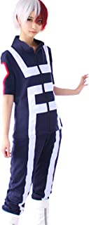 Anime Cosplay My Hero Academia Gymnastics Uniforms Costume (Izuku shoto Katsuki)