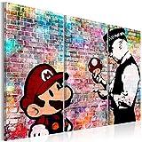 murando - Bilder Banksy Super Mario Mushroom Cop 120x80 cm