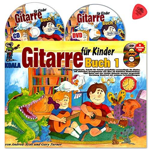 Gitarre für Kinder 1 mit CD, DVD, Poster, Plek - eine sorgfältig aufgebaute, schrittweise Anleitung mit einfachen Bearbeitungen beliebter Kinderlieder für 4 bis 8 jährige