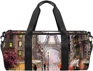 TIZORAX Arum Llily Gym Duffle Bag Bag Bolsa de viaje Fitness Bolsa de viaje en la azotea
