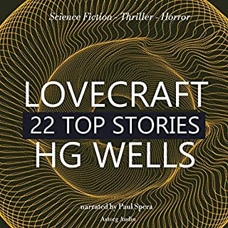 22 Top Stories of H. P. Lovecraft & H. G. Wells audiobook cover art