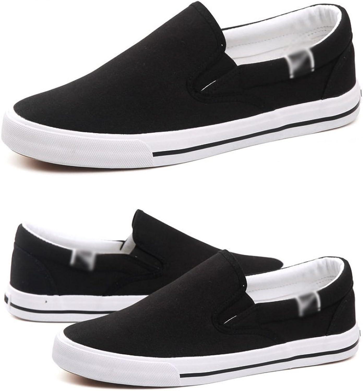 WFL Men's summer black canvas shoes men's shoes cloth shoes men's pedals lazy shoes men's casual shoes