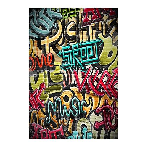 Muzi 150x220cm Colorful diseño de pared de graffiti alfabeto Graffiti fotografía fondo niño cumpleaños fotografía fondo xt-3145