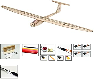 RC Glider Plane Griffin Model Sailplanes, 1.6M Wingspan Laser-Cut Balsawood Gliders Airplane Kits to Build, DIY 4CH Remote Radio Controlled Glider Electric RC Aeroplane Kit or Adults