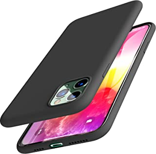 TOZO for iPhone 11 Pro Max Case 6.5 Inch (2019) Liquid Silicone Gel Rubber Shockproof Shell Ultra-Thin [Slim Fit] Soft 4 Side Full Protection Cover for iPhone 11 Pro Max with [Black]