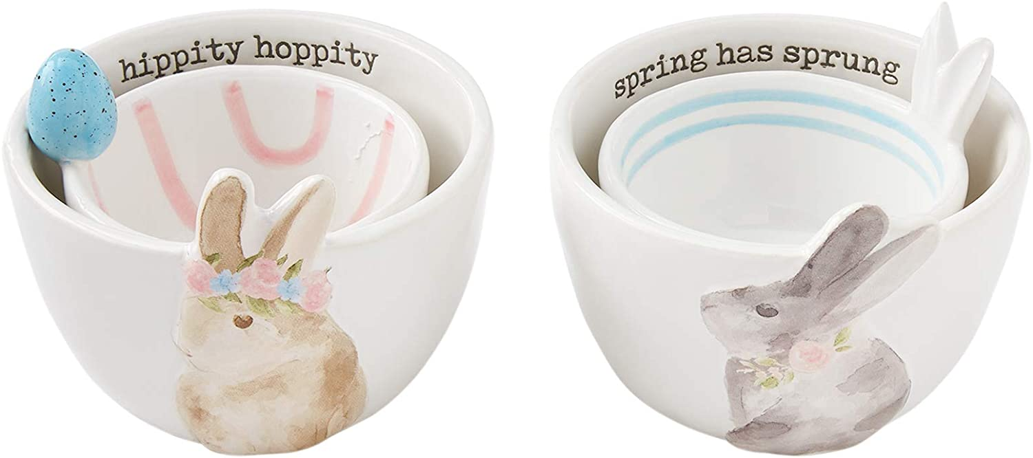 Gray Easter Candy Bowl Set