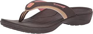 Orthotic Recovery Sandals for Women by Powerstep, Fusion Orthotic Flip Flop Sandals with Built In Arch Support, Shock Absorbing Midsole and Contoured Footbed, Lightweight and Non-Slip Tread