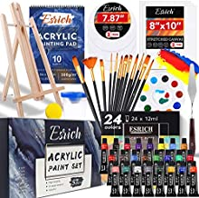 Acrylic Paint Set,57 PCS Professional Painting Supplies with Paint Brushes, Acrylic Paint, Easel, Canvases, Painting Pads?Palette, Paint Knife, Brush Cup and Art Sponge for Hobbyists and Beginners