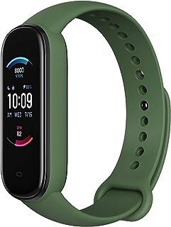 Amazfit Akıllı saat kayışı 5 fitness takip cihazı, entegre Alexa ile, 15 gün pil ömrü, kan oksijeni, kalp atış hızı, uyku ...