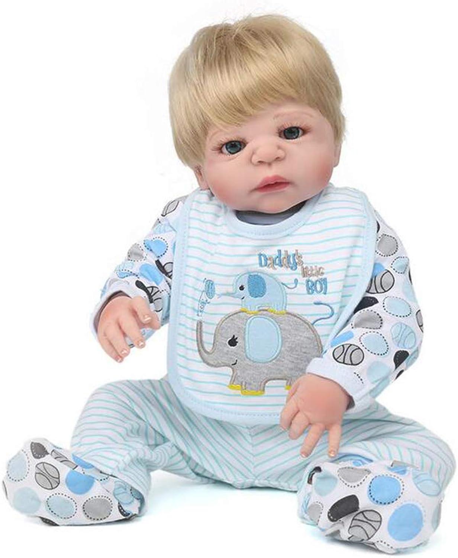 Simulation doll JFW-Collection Reborn Babypuppe realistische Babypuppen 22 Zoll Vinyl Silikon Babys Puppe Neugeborenen echte Babypuppe Netter Junge