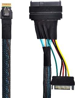 Xiwai U.2 U2 SFF-8639 إلى Slimline SFF-8654 4i NVME PCIe كابل SSD للوحة الرئيسية SSD 750 p3600 p3700 M.2