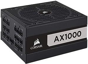 Corsair CP-9020152-UK AX1000 80 Plus Titanium - Fuente de alimentación ATX Totalmente Modular, Color Negro