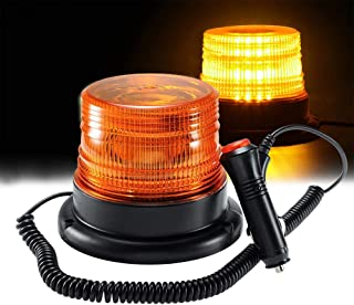 Amber LED Strobe Light,LED Emergency Vehicle Magnetic Mount Warning Strobe and Rotating Flashing Light Beacon Pattern for Cars and Trucks (30 LED)