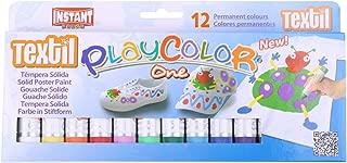PLAYCOLOR TEXTIL 洗濯しても落ちない布用クレヨン 太書き 水洗OK リキャップタイプ 欧州CEマーク認証商品 (12)