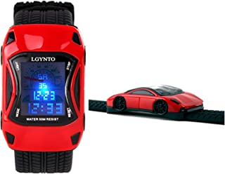LGYNTO Kids Watches Boys Waterproof Sports Digital LED Wristwatches 7 Colors Flashing Car Shape Wrist Watches for Childre...