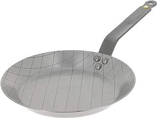 MINERAL B Round Carbon Steel Steak Fry Pan 9.5-Inch