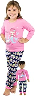 Girl and Doll Matching Pajama Clothes Fits American Girl Dolls & Other 18 inches Dolls