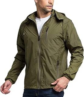 Men Coat Gilet Waterproof Hooded Pullover Solid Raincoat Poncho Trendy Rain Jacket Rain Coat