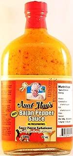 Aunt May's Hot Bajan Pepper Sauce 12 Oz (1btl)