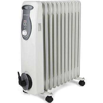 Orbegozo RA 2500 E, Radiador de Aceite, Construcción Modular de 11 Elementos, 2500 W, Blanco