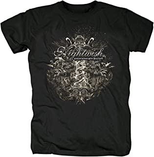 RONGHUA Nightwish 夜の願い 日暮キャロル 美声楽隊 メロディー メンズ/レディース Tシャツ/夏服 スポーツ Tシャツ ブラック/半袖 Tシャ