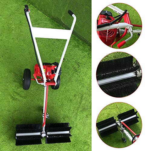43CC Kehrmaschine Motorbesen Schneeräumer Benzinmotor 1.7PS Motorbesen Benzin Kehrmaschine Fahrwerk Schneefräse Räumgerät Schnee