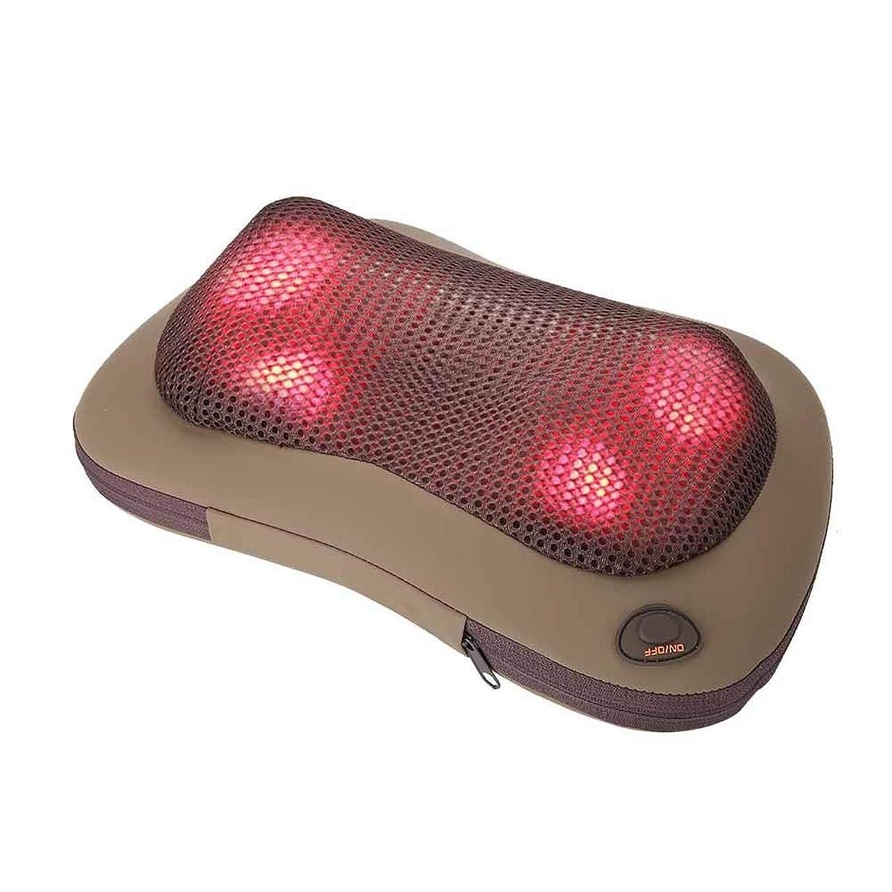 以前は実施するオーストラリア人携帯用 電気マッサージ 枕 暖房療法 首 ウエスト 足 腕 マッサージ用具(グレー)