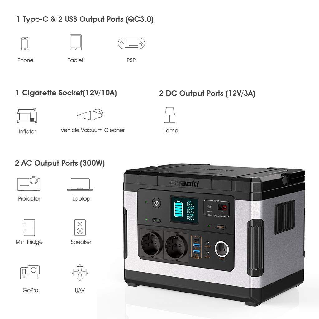 suaoki WH/137, 700 mAh acumulador de energía 3 puertos qc3.0, 2 ...