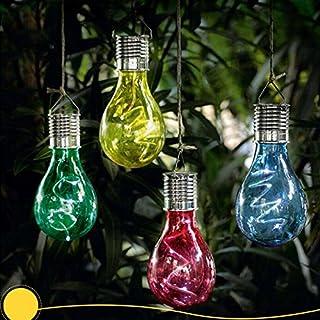Amyove Bombilla colgante de energía Solar Sensor de luz, Lámpara decorativa de jardín, lámpara