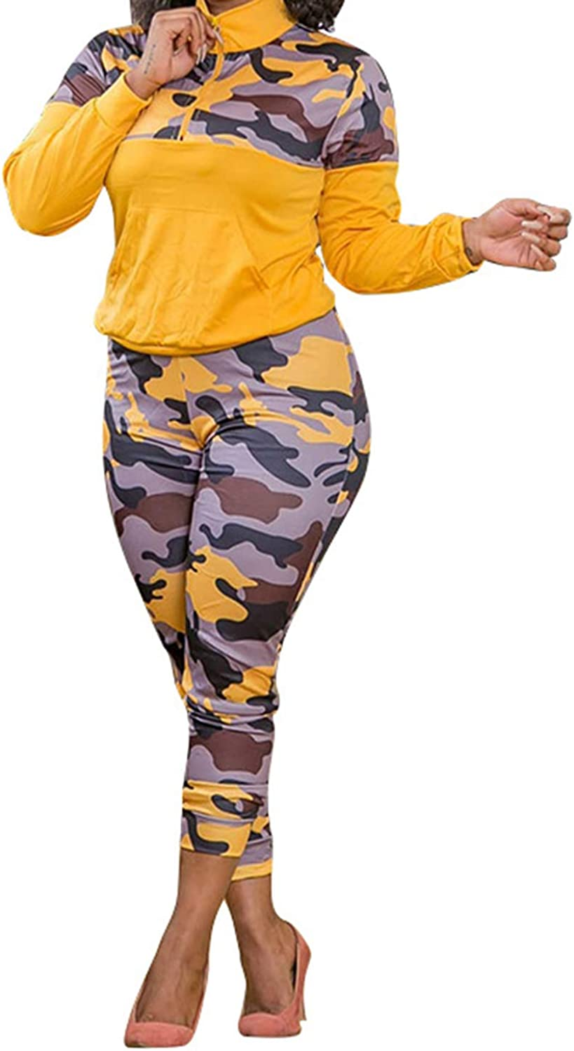 Aro Boston Max 43% OFF Mall Lora Womens Plus Size 2 Piece Sw Outfit Camo Print Tracksuit