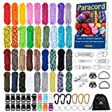 MONOBIN Paracord, 550 Paracord Combo Kit with Instruction Book - 36 Colors Multifunction Paracord Ropes and Complete Accessories for Making Paracord Bracelets, Lanyards, Dog Collars(36COLORS-C)