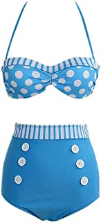 DarlingLove Women's Pinup Rockabilly Vintage High Waist Bikini Swimwear