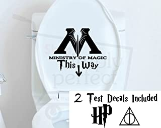 Harry Potter This Way to the Ministry of Magic with arrow Bathroom Toilet Decal