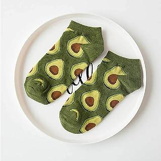 Aguacate Omelette Burger Sushi Manzana Planta Frutas Calcetines De Comida Cortos Divertidos Calcetines De Algodón Mujeres Verano Hombres Unisex Happy Socks Mujer