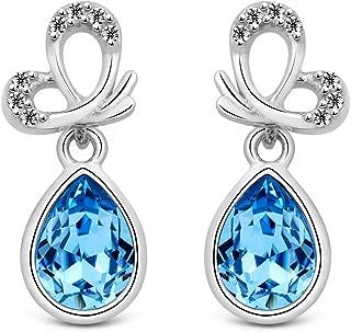 Jewelers - Pendientes de plata de ley 925 con cristales de Swarovski