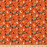 Camelot Fabrics Character Halloween II Star Wars The Mandalorian Peekaboo Child Fabric, Orange