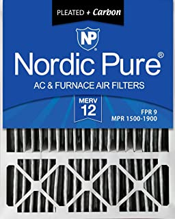 Best Nordic Pure 20x25x5 MERV 12 Pleated Plus Carbon Lennox X6673 Replacement AC Furnace Air Filters 2 Pack Review