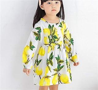 [LINGLU] キッズ 女の子 子供服 スカート 長袖 エレガント かわいい ドレス パフスリーブ プルオーバー フリル プリーツスカート コンフォート