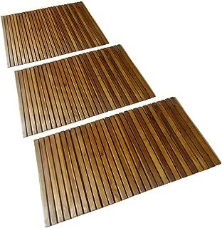 3 pcs Wooden Bath Mat Duckboard 31.5