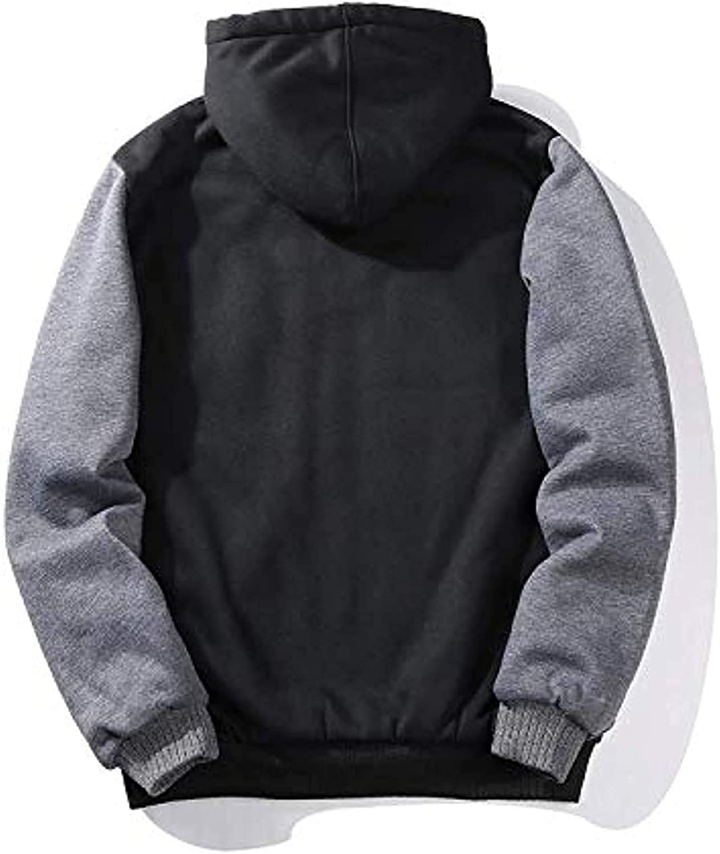 GEEK/LIGHTING/Hoodies/for/Men/Heavyweight/Fleece/Sweatshirt/-/Full/Zip/Up/Thick/Sherpa/Lined
